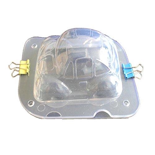 pu ran 3D Mini Auto Chocolate Candy Mold Kuchen dekorieren Werkzeug für Küche Backen Auto - Auto Chocolate Mold