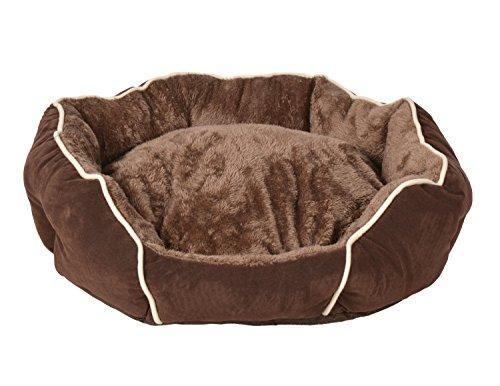 ts-ideen extra weiches Hundebett Tierbett Luxus Kissen Wendekissen Hundekorb Hundesofa Hunde-Kissen waschbar Haustier Schlafplatz Körbchen 55 x 50 cm Gebrauchte Hundebox Für Große Hunde