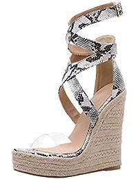 Zapatos Mujer Amazon Para esSandalias Cruzadas gvbYf76y