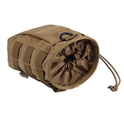 OneTigris MOLLE Beutel Dump Pouch Zusätzlicher Stauraum Rücksack Zusatztaschen EDC Tasche Braun-ohne Klettverschluss