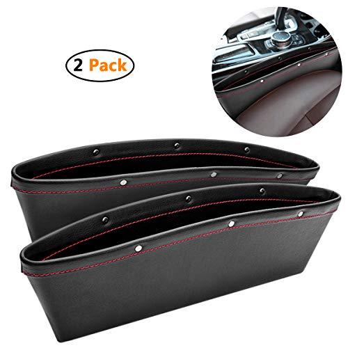 Autositz-Seitentasche,Autotaschen-Aufbewahrungsbox, Wasserdichte Lücke Aufbewahrungsbox Auto Rand Box Autositz Spacer Aufbewahrungsbox Auslaufsicher Handschuhfach Autozubehör (2er Set)