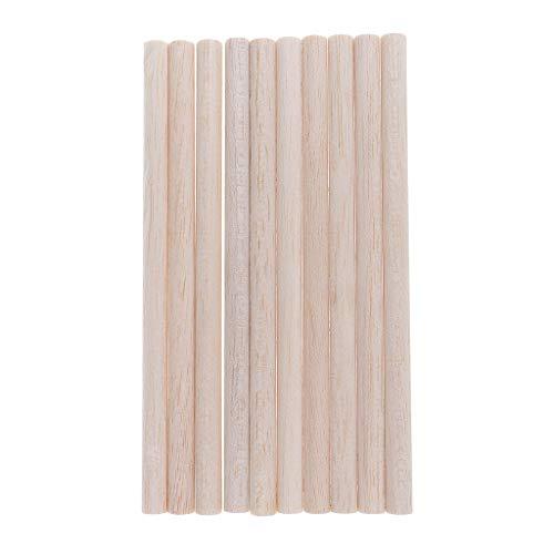 Baoblaze 10 Stück Balsaholz Rund Stange Stab DIY Architekturmodell Baustoffe Balsaholzformen - Holz, 200 mm