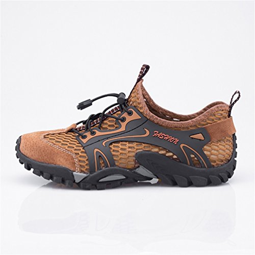 Flarut sandali sneakers sportivi estivi uomo trekking scarpe da spiaggia all'aperto pescatore piscina acqua mare escursionismo leggero(marrone,46)