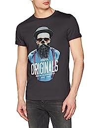 JACK & JONES Jorart Funnyskull tee SS Crew Neck, Camiseta para Hombre