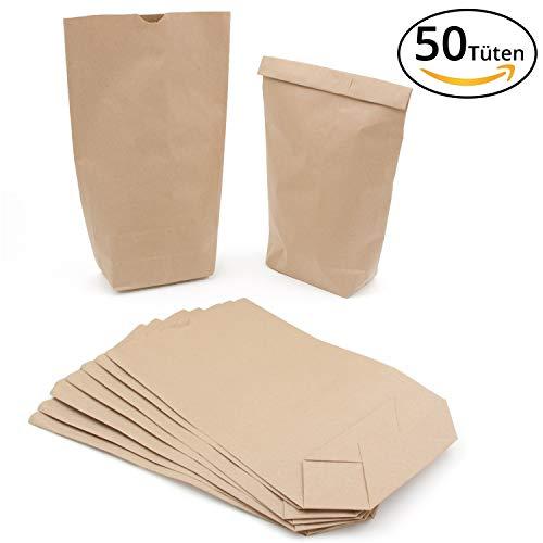 (Braune Kraftpapier-Tüten (19x30cm) für Adventskalender, Hochzeiten, Geburtstage )