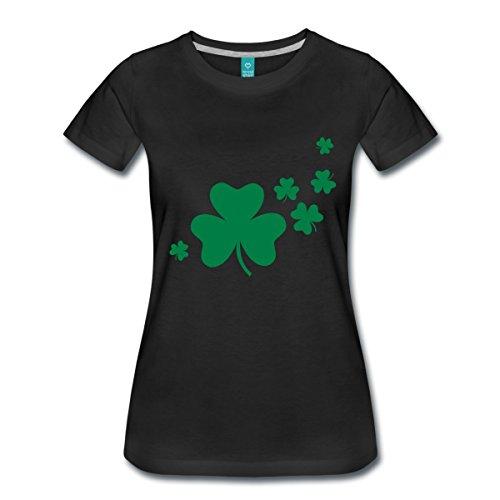 Fliegende Kleeblätter St. Patrick's Day Irland Frauen Premium T-Shirt von Spreadshirt®, 3XL, (Patricks Mädchen St Day)