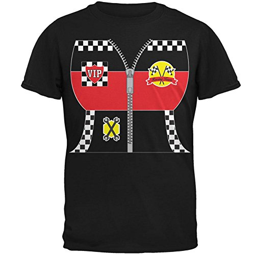 Halloween-Hot Rod Kostüm Racing Herren T-Shirt schwarz 4 (Kostüme Rod Hot)