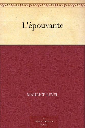 Couverture du livre L'épouvante