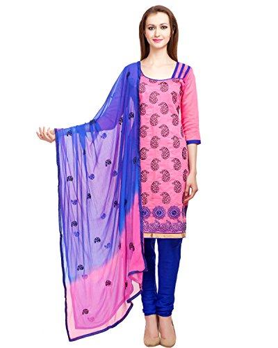 DivyaEmporio Women's Faux Cotton Salwar Suit Dress Material