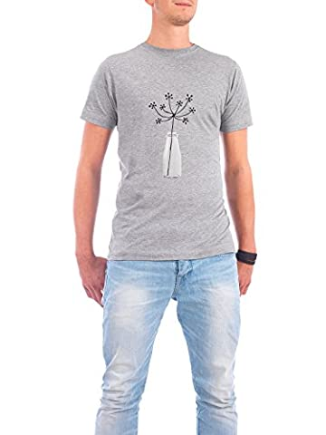 Design T-Shirt Men Continental Cotton Flower Still Life grey size