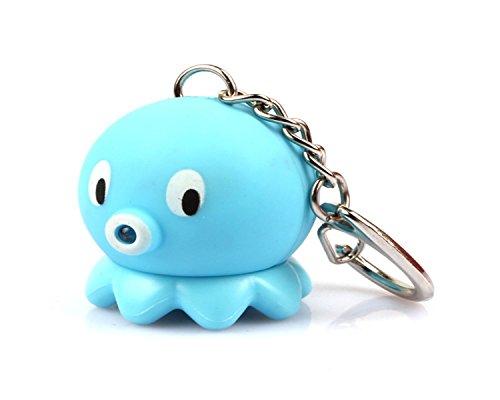wodej iayuan della novità Carino Octopus LED portachiavi portachiavi anello della torcia con luce e Stich haltigem tono Portachiavi Portachiavi anello, der per Jogging dipende