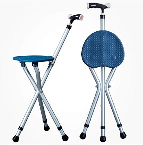 Wwwwwwxw Cane Seat Einstellbare Klapp Gehstock Stuhl Hocker Massage Gehstock. -
