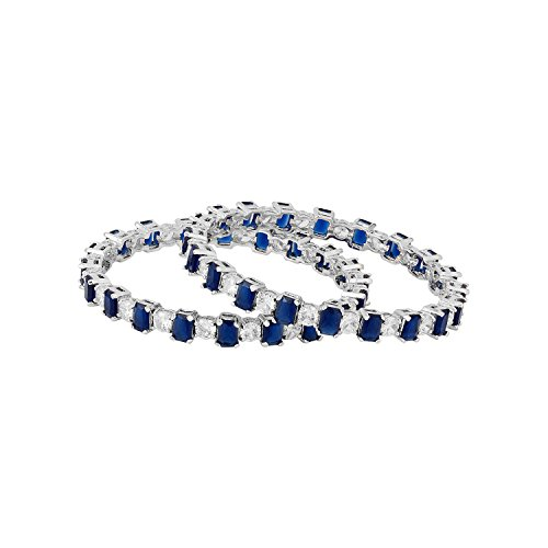 Voylla Traditional Brass with Silver Plating Plated Cubic Zirconia Bracelets for Women