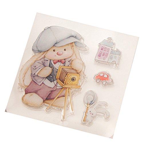 SLYlive Jolie Fille Silicone Tampons Scrapbooking De Set,Clair Tampons  Scrapbooking pour Bricolage Cartes De Voeux Enfant De Noel Cadeau ... 8926fb8e11d3