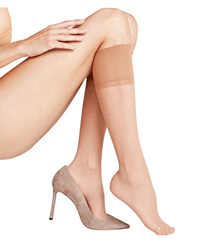 FALKE Damen Pure Matt 20 Denier elegante Kniestrümpfe Transparent powder 35-38