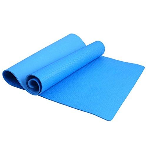 lergo mit 4mm Dicke Fitness Yoga-Matte, rutschfest, für die Gesundheit Pad mit # 03, blau (Yoga-matte, Dicke 2 Cm)