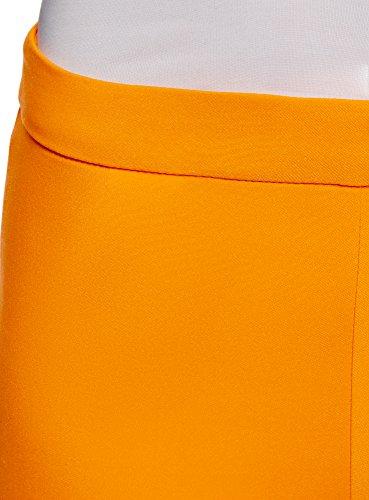 oodji Ultra Damen Enge Hose mit Reißverschluss an der Seite Orange (5500N)