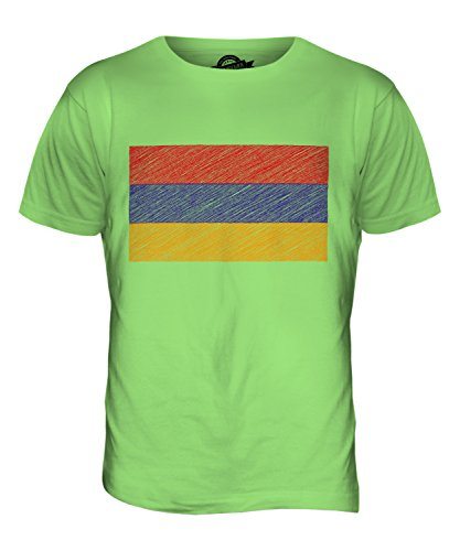 CandyMix Armenien Kritzelte Flagge Herren T Shirt Limettengrün