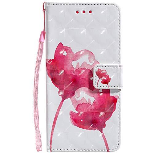 Tosim LG G8 / G8S ThinQ Hülle Klappbar Leder, Brieftasche Handyhülle Klapphülle mit Kartenhalter Stossfest Lederhülle für LG G8 / G8S - TOKTU050317 T1