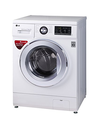 LG 7.5 kg Fully-Automatic Front Loading Washing Machine (FH2G6EDNL22, Blue White)