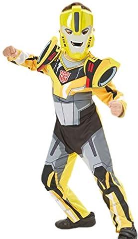 Zauberclown - Kinder - Karnevalskomplettkostüm Transformers Bumblebee mit Maske ,