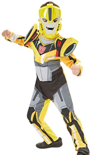 Fancy Ole - Kinder - Karnevalskomplettkostüm Transformers Bumblebee mit Maske , 122, Gelb-Schwarz