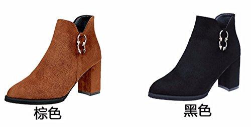 FLYRCX In autunno e in inverno, la signora ha indicato con le scarpe con i tacchi alti B