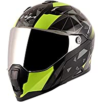 Vega Storm Drift Black Neon Yellow Helmet-L