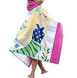 Mazheny - Asciugamano da Bagno con Cappuccio per Bambini, Motivo: Coccodrillo, per Bambine e Ragazzi dai 4 ai 14 Anni Yellow Mermaid