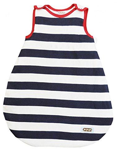 Wichmann & Friends PiPaPo Babyschlafsack wahlweise mit Aufdruck Marine/weiß-gestreift, Größe:86/92, Aufdruck:ohne