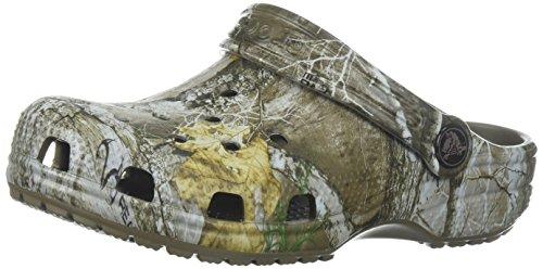 Crocs- - zoccoli classici per bambini realtree edge bimbo 0-24 unisex - kids, beige (walnut), 26 eu