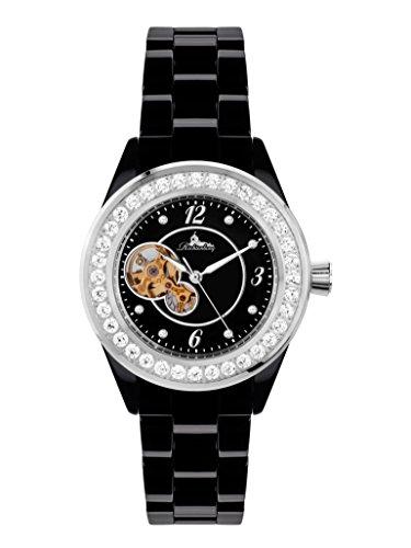 Richtenburg R10101 Venedig Kera Stahl Schwarz mit Keramikarmband Damen Automatik Armbanduhr