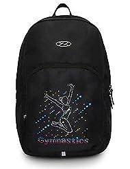 La zona gimnasia mochila bolsa Negro y multicolor diseño de holograma