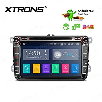XTRONS-8-Android-Autoradio-mit-Touchscreen-Android-90-Quad-Core-DVD-Player-Full-RCA-Ausgang-WiFi-4G-Bluetooth50-2GB-RAM-16GB-ROM-DAB-OBD2-Car-Auto-Play-Lenkradsteuerung-TPMS-FR-VW