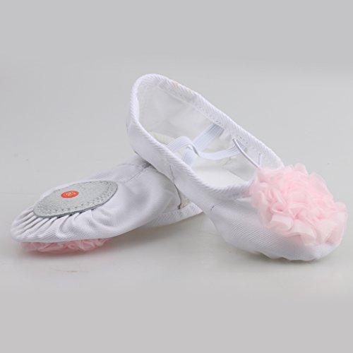Generic Bambino Ragazze Scarpe da Danza Ballerine Danzanti Pattini da Balletto Pantofole Ginnastica Sport Rosa chiaro