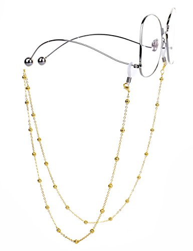 Mini Tree Brillenketten für Lesebrillen Gold Perlen Brillenband Brillen Cord Damen Lesebrille Brille Kette Sonnebrillen Band Lesebrillen Kette Lesebrillen Band Brille Cords Hals Cord