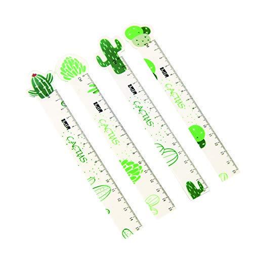 Kentop Lineal, gerade, Messwerkzeug, Acryl-Lineal, Pflanzenform, 15 cm 19cm*2cm Karotte -