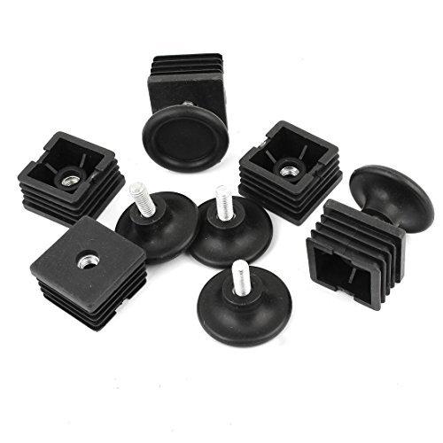 Platz Einstellbare Ausgleichsfuß Cap Kit 45mm Basis Dia 40mmx40mm 5 Sets