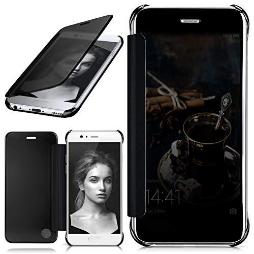 moex Huawei P10 | Hülle Transparent TPU Void Cover Dünne Schutzhülle Anthrazit Handyhülle für Huawei P10 Case Ultra-Slim Handy-Tasche mit Sicht-Fenster