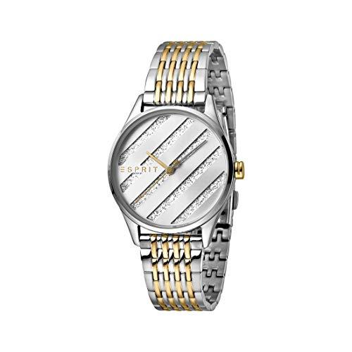 Esprit es1l029m0075E. ASY Two Tone Oro Silver MB–Reloj de Pulsera para Mujer