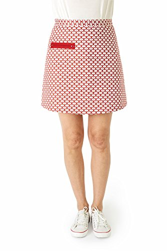 426f11ce28411 My faldas Women's Roses Casual Skirt, Red (Rojo 006), 10 (Size