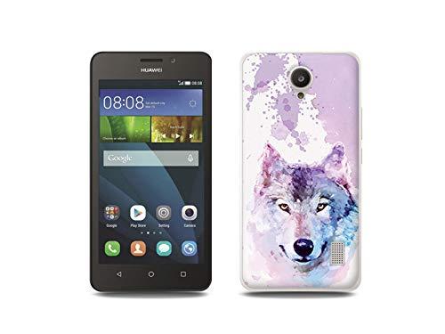 etuo Handyhülle für Huawei Y635 - Hülle, Silikon, Gummi Schutzhülle - Traumwolf