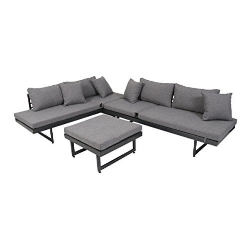 greemotion Lounge-Set Calais, 3 teilig, Gartenmöbel-Set inkl. Auflagen, Robuste Sitzgruppe für...