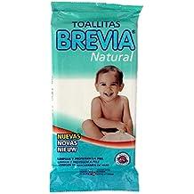 BREVIA - Pack de 20 toallitas húmedas Infantiles Natural