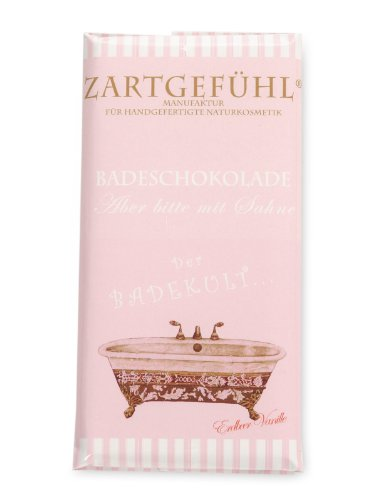 Zartgefühl Badeschokolade aber bitte mit Sahne, Erdbeere Vanille, 100 g