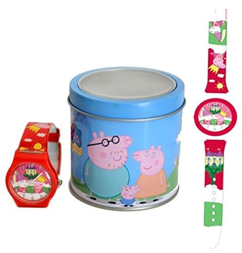 Peppa Pig 0480195 Reloj analógico de Niños y Niñas 1 de 3 diseños