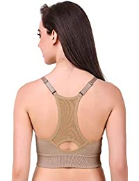4c8b7afd964 WEBBOON Padded Sports Bra for Running Sports Gym Yoga Dancing Workout  Aerobic Jogging Cotton Bra