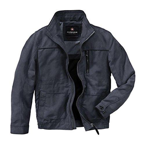 XXL Redpoint leichte Jacke in Veloursoptik Trent navy Blau