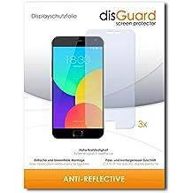 3 x disGuard Anti-Reflective Lámina de protección para Meizu MX4 Pro / MX-4 Pro - ¡Protección de pantalla antirreflectante con recubrimiento duro! CALIDAD PREMIUM - Made in Germany