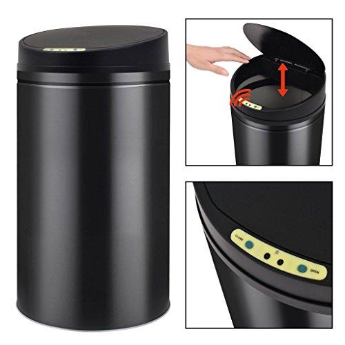 Festnight Papelera/Cubo Basura Automática con Sensor de Apertura Color de Negro, 32x60...